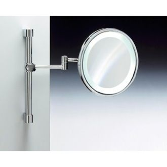 Makeup Mirror Wall Mounted Brass LED Warm Light With 3x 5x Magnification 99259 Windisch