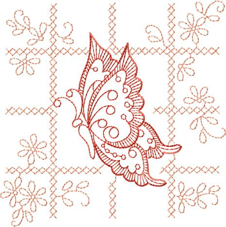 Designs Butterfly Motif 2 Free Embroidery Design Abc Free Machine