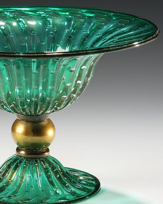Decorative Colored Glass Bowls Unique Murano Glass Green And Gold Round Venetian Glass Bowl With Inspiration