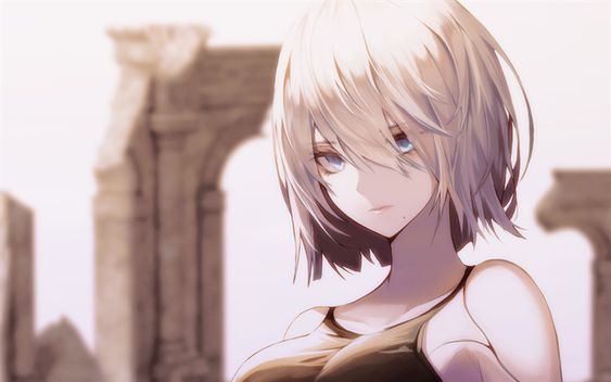 Download wallpapers Yorha 2B, Nier Automata, YoRHa No2 Type B, 2B serves, Japanese anime characters besthqwallpapers.com