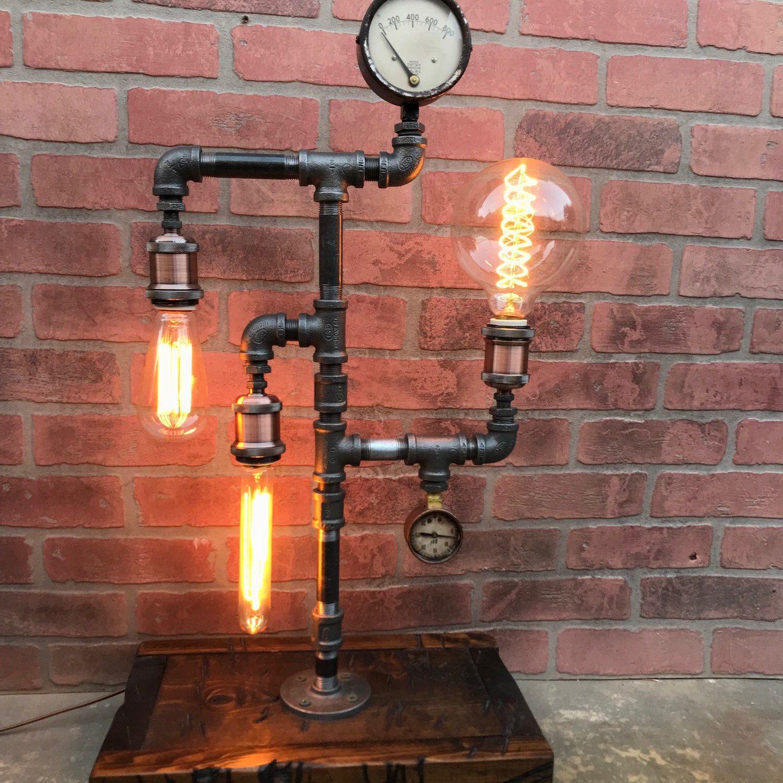 steampunk lighting. Steampunk Lamp Industrial Edison Bulb Reclaimed Vintage Lighting