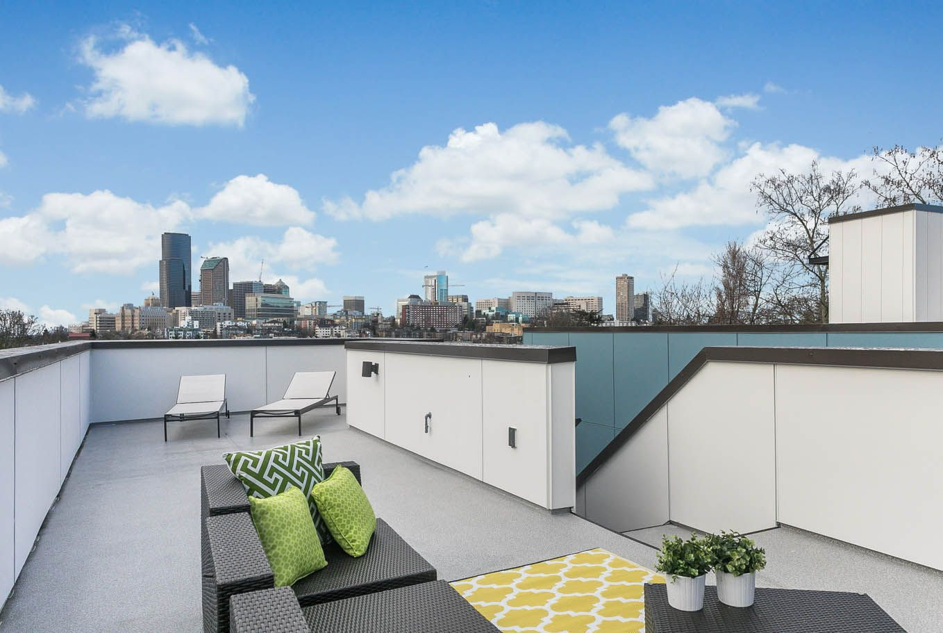 Rooftop deck outdoor living city views seattle builder