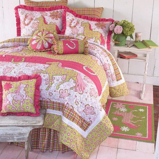 Horse Bedding for Teens. Dancing Ponies Western Cowgirl Bedding   Cabin Bedding and Western