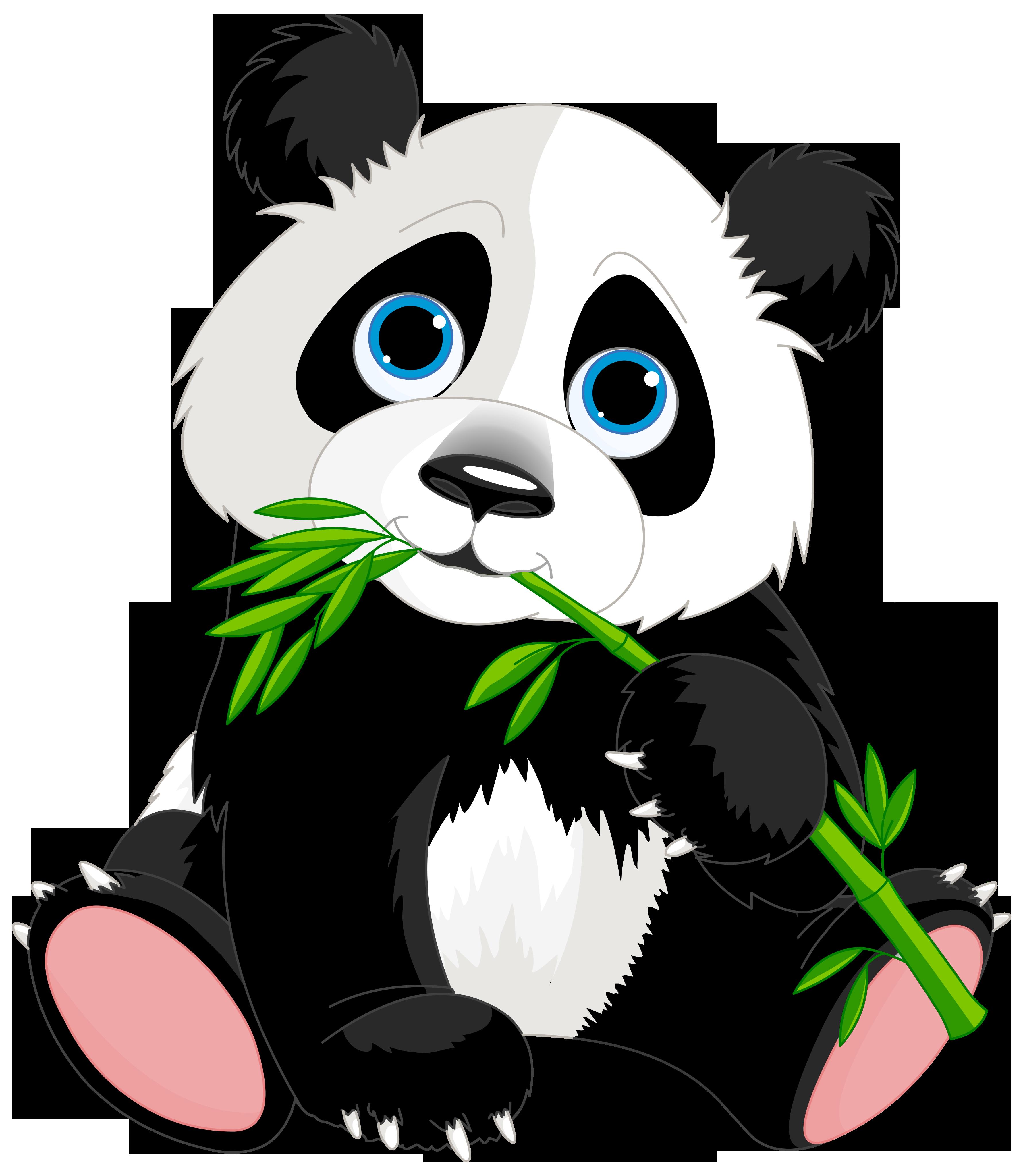 Cute Panda Cartoon Clipart