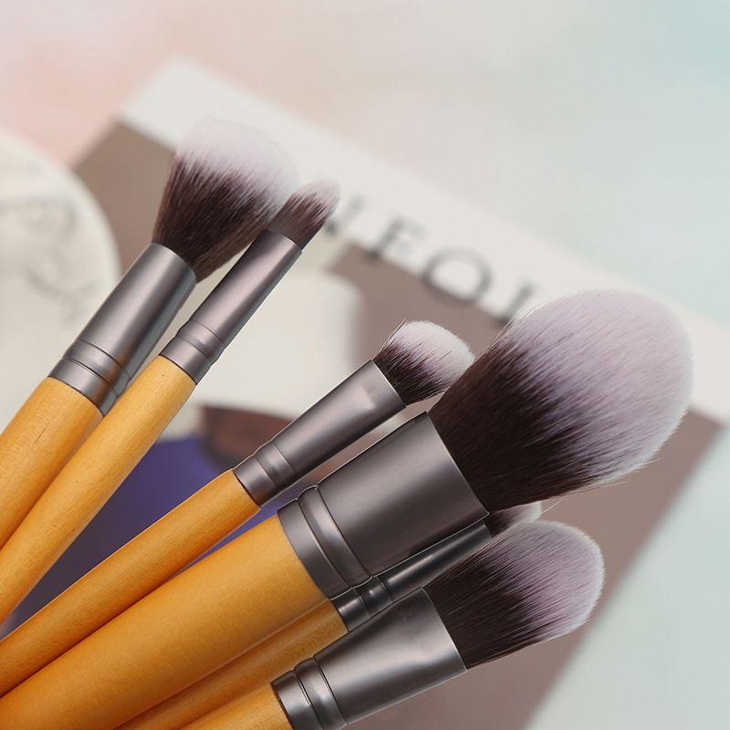 Custom Natural Makeup Brushes Set Bamboo Kit Inquiry Muafan Aliyun Com Or Whatsapp Wechat 86 13424200 Bamboo Makeup Brushes Makeup Brush Set Organic Makeup