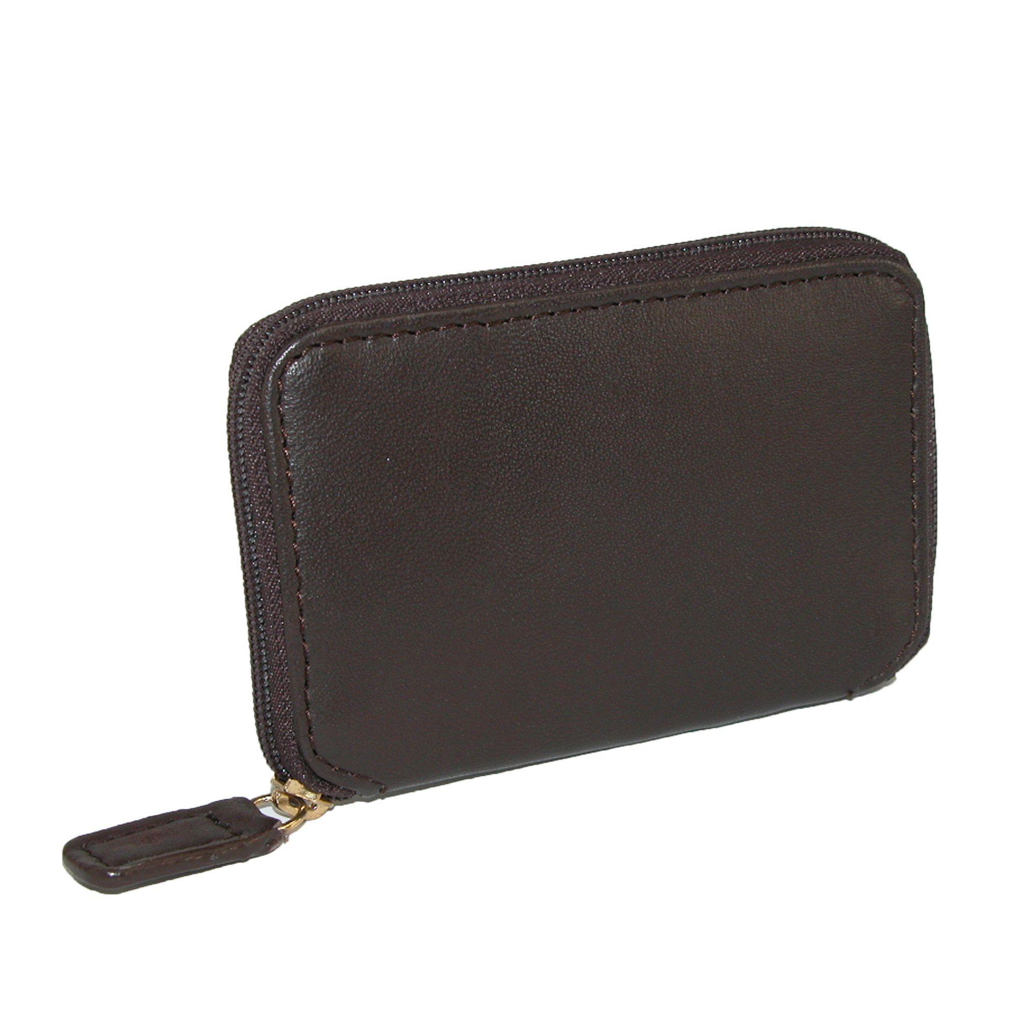 Winn International Mens Leather Zip Around Key Case