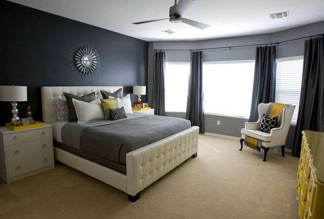 grey blue and yellow bedroom lktrxij | bedroom ideas | pinterest