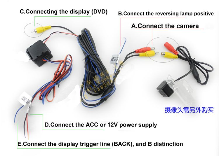 Filter Car Rear View Reverse Camera Video Power Wires Cables Stabilized 12v Dc Relay Capacitor Rectifiers Relay Auto Car Electronics Power Wire Capacitors