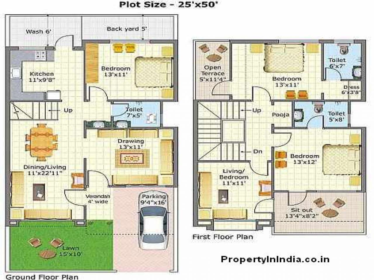 Bungalow Floor Plans Free Indian House Plans Duplex House Design Duplex House Plans