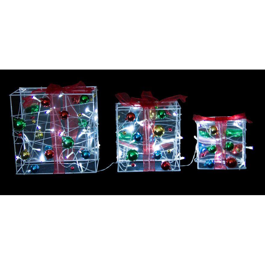 3 Piece Solar Led Christmas Gift Box Lights Buy Christmas Solar Lights Online Oo Com Au Solar Christmaslights With Images Solar Led Solar Lights Christmas Lights