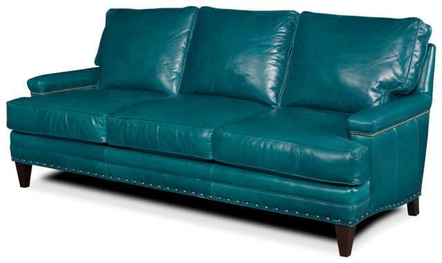 I Love This Sofa Wonder If I Can Pull Off Turquoise Leather In
