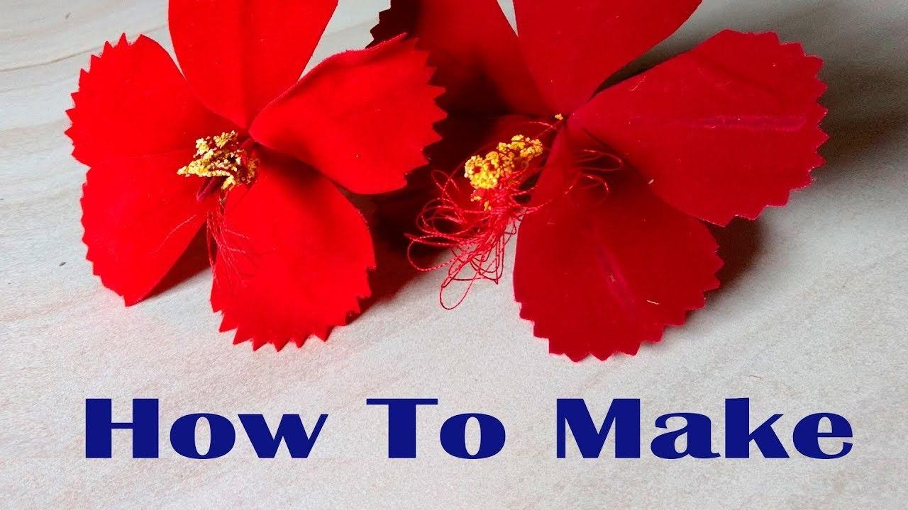 Diy Flowers Crafts Hibiscus Flowers Ganesh