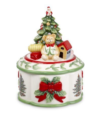 Spode Christmas Tree Sculpted Christmas Tree Shaped Covered Box, 7