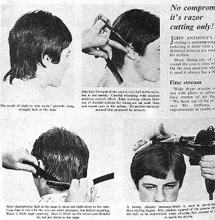 Boys Mod hair tutorial on how to cut & back comb French style. 1960s mag