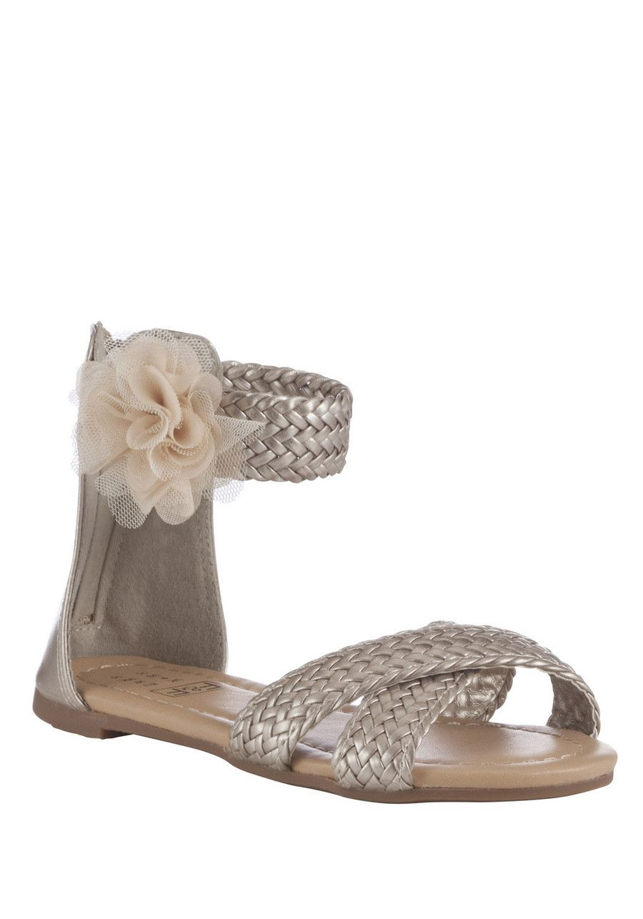 Clothing at Tesco | F&F Plaited Corsage Sandals > shoes > Shoes & Boots > Kids