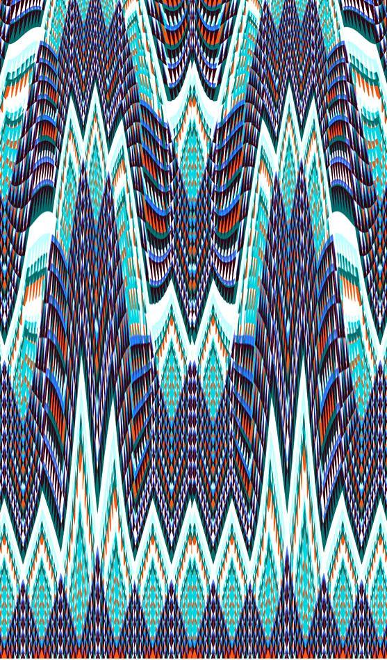 Tribal Geo, Amelia Graham #digitalglitch #surfacedesign #tribal