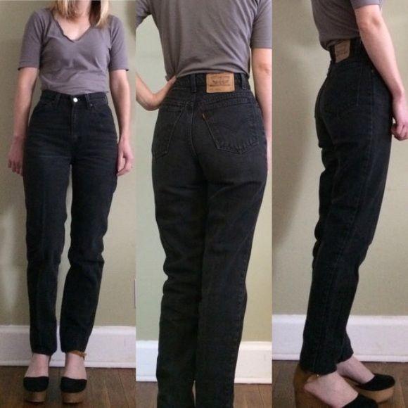 Levis High Waist Mom Jeans Sz 28 Black 512 My Posh Closet