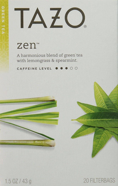 Tazo Zen Filterbag Tea (20 Filterbags per box) (Pack of 4
