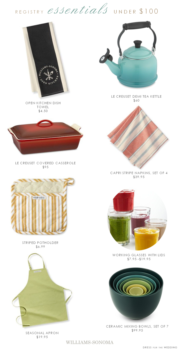 Wedding Registry Gifts under 100 + Win a 5,000 Gift Card