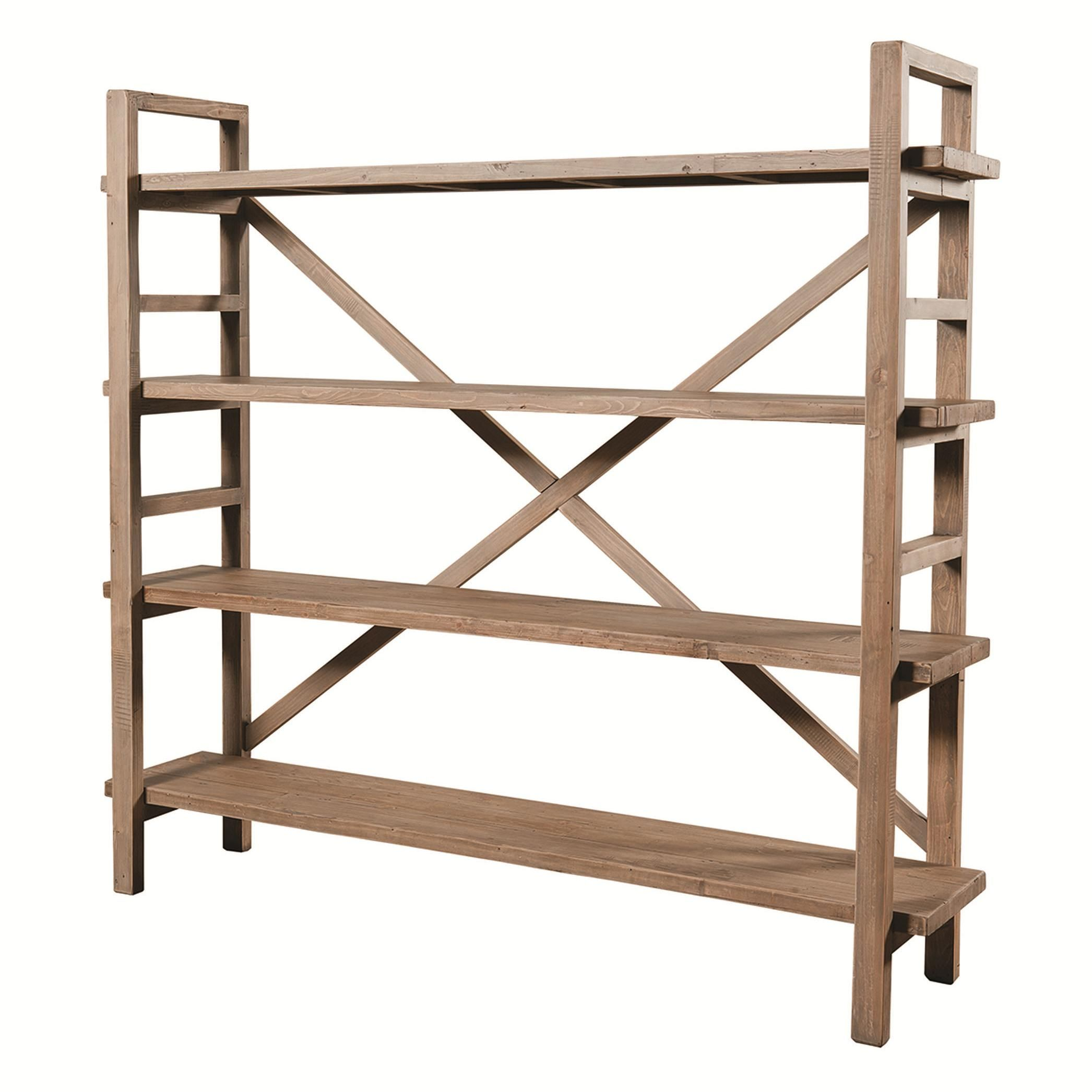Sunset Beach Toscana Open Bookshelf With X Style Back By Urban Classic Designs At Reeds Furniture Eclectic Bookcases Bookshelves Diy Large Bookshelves
