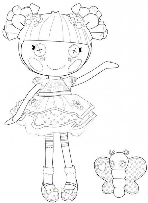 lalaloopsy coloring page | Birthday ideas | Pinterest | Lalaloopsy ...