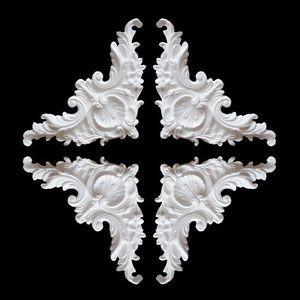 4x gips verzierung ecken dekor ornament stuck gips relief stuckdekor xl baumarkt pinterest. Black Bedroom Furniture Sets. Home Design Ideas