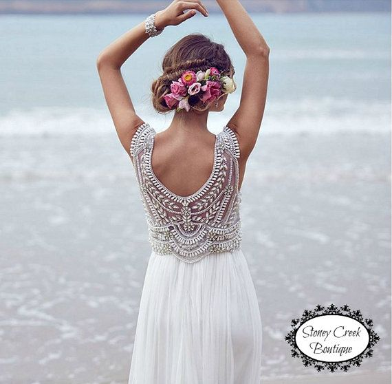 WHITE LACE A-LINE WEDDING DRESS