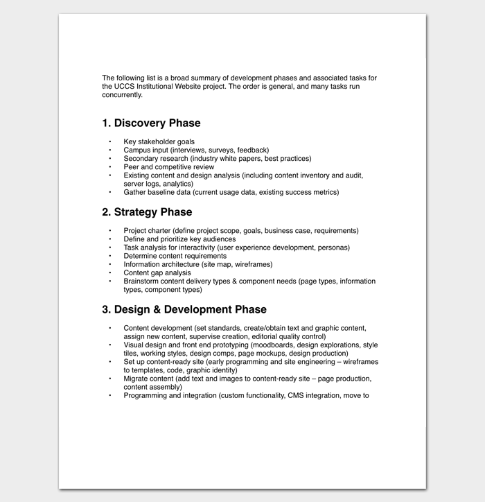 Project Outline Template For Pdf  Outline Templates  Create A