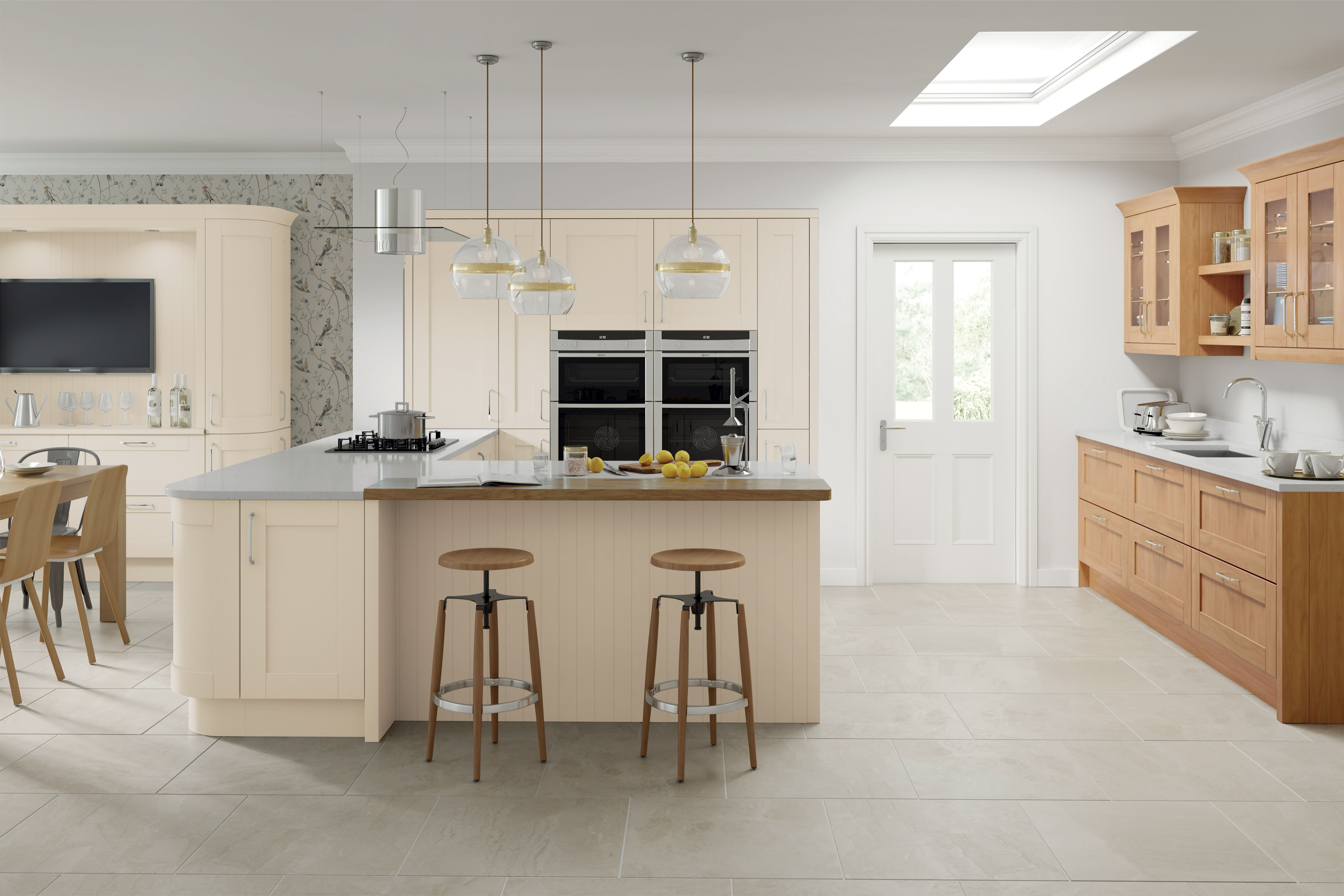 Cambridge Hand Painted Chalkstone | Light grey kitchens ...