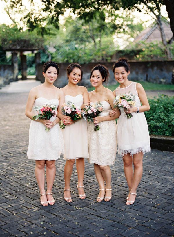 1000  images about Bridesmaids in White Cream &amp Ivory on ...