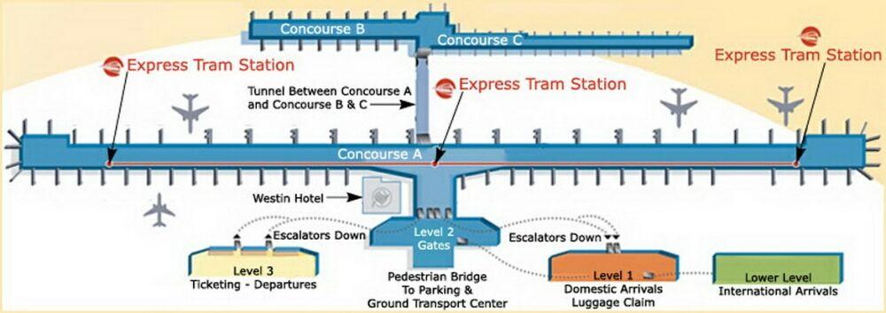 Metro Airport Terminal Map Detroit Airport Delta Gates | Detroit Metro Airport Terminal Map