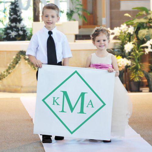 Diamond Monogram Custom Wedding Banner by Beau-coup
