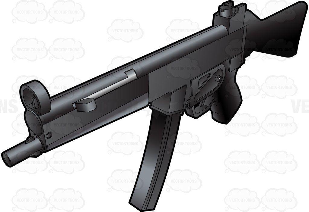 Top Side View Of An Mp5 Swat Submachine Gun   Submachine gun, Mp5 ...