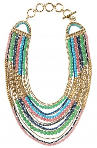 This will look amazing with all those colored jeans that are so hot for spring! Think coral jeans, white tank, denim jacket & this fab necklace! www.stelladot.com/sites/poshpieces to see the rest of this amazing spring collection!