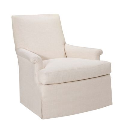 Virginia Skirted Chair From The Suzanne Kasler® Collection By Hickory Chair  Furniture Co. CURVED