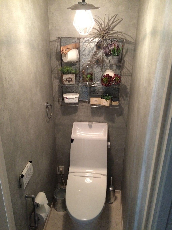 トイレをインダストリアルな空間に 美容室 内装 インダストリアル