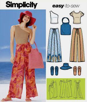 e45817cc6a4 WRAP PANTS Sewing Pattern - Knit Top Hat Bag   Flip Flops - Plus Sizes Too  SOLD!