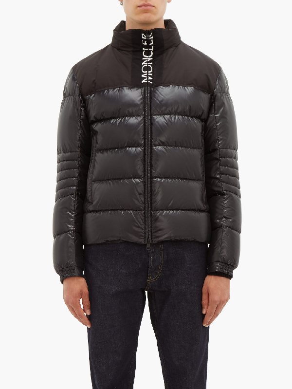 Moncler Bruel Logoembroidered Quilted Down Coat In 999