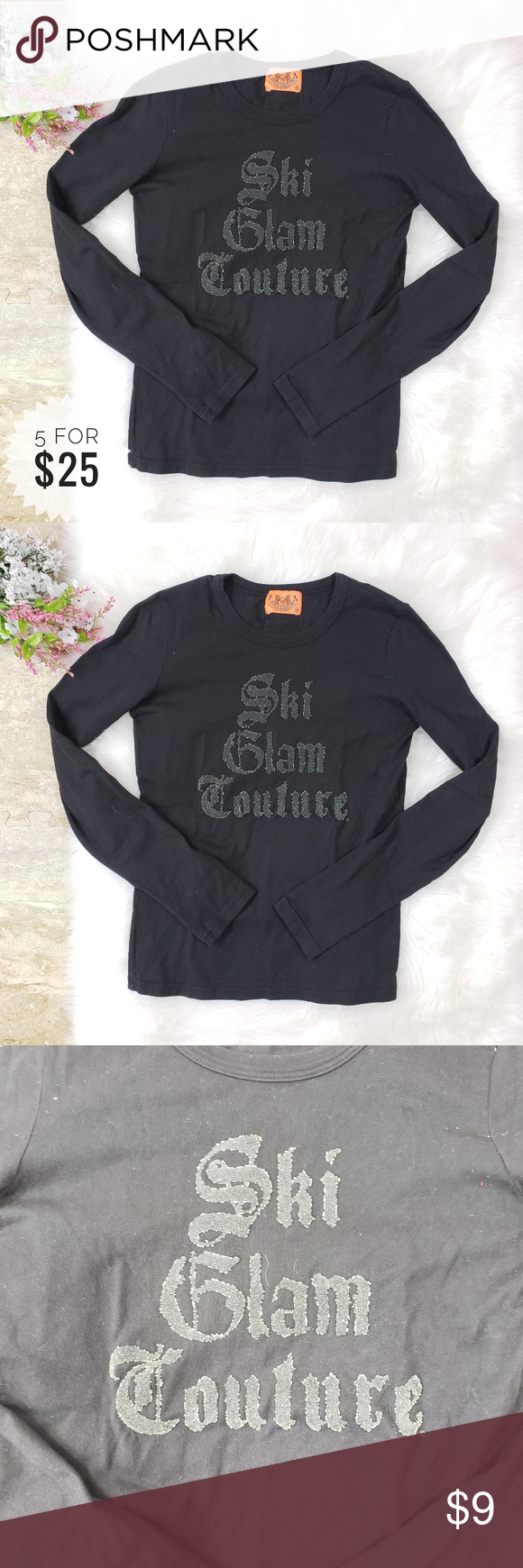 dda1e7243b Juicy Couture Long Sleeve Tee Size Small -All items  10 and under are 5 for