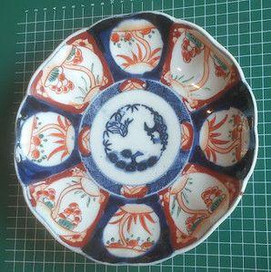 IMARI very old 1800-1860 Iroe bowl - Shochikubai