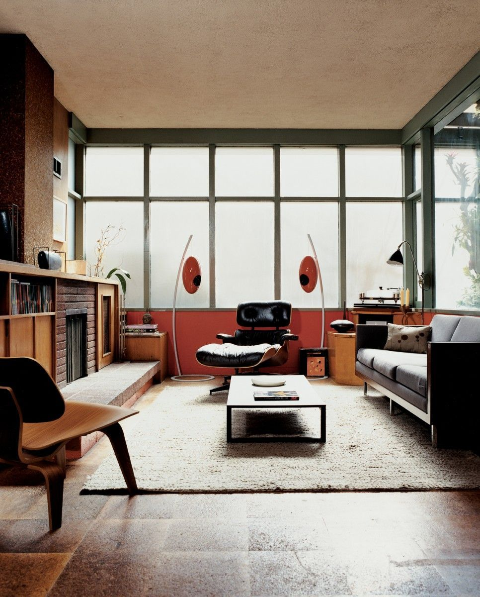 Mid century modern living room in lincoln also
