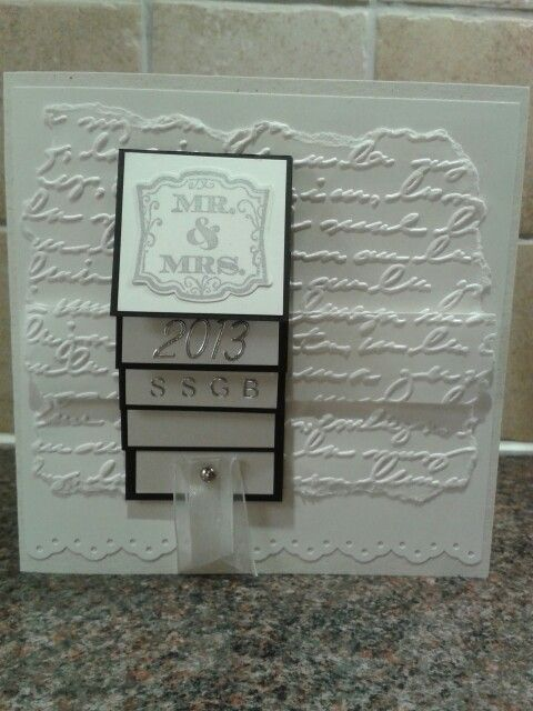 Wedding card using stamping up prpducts