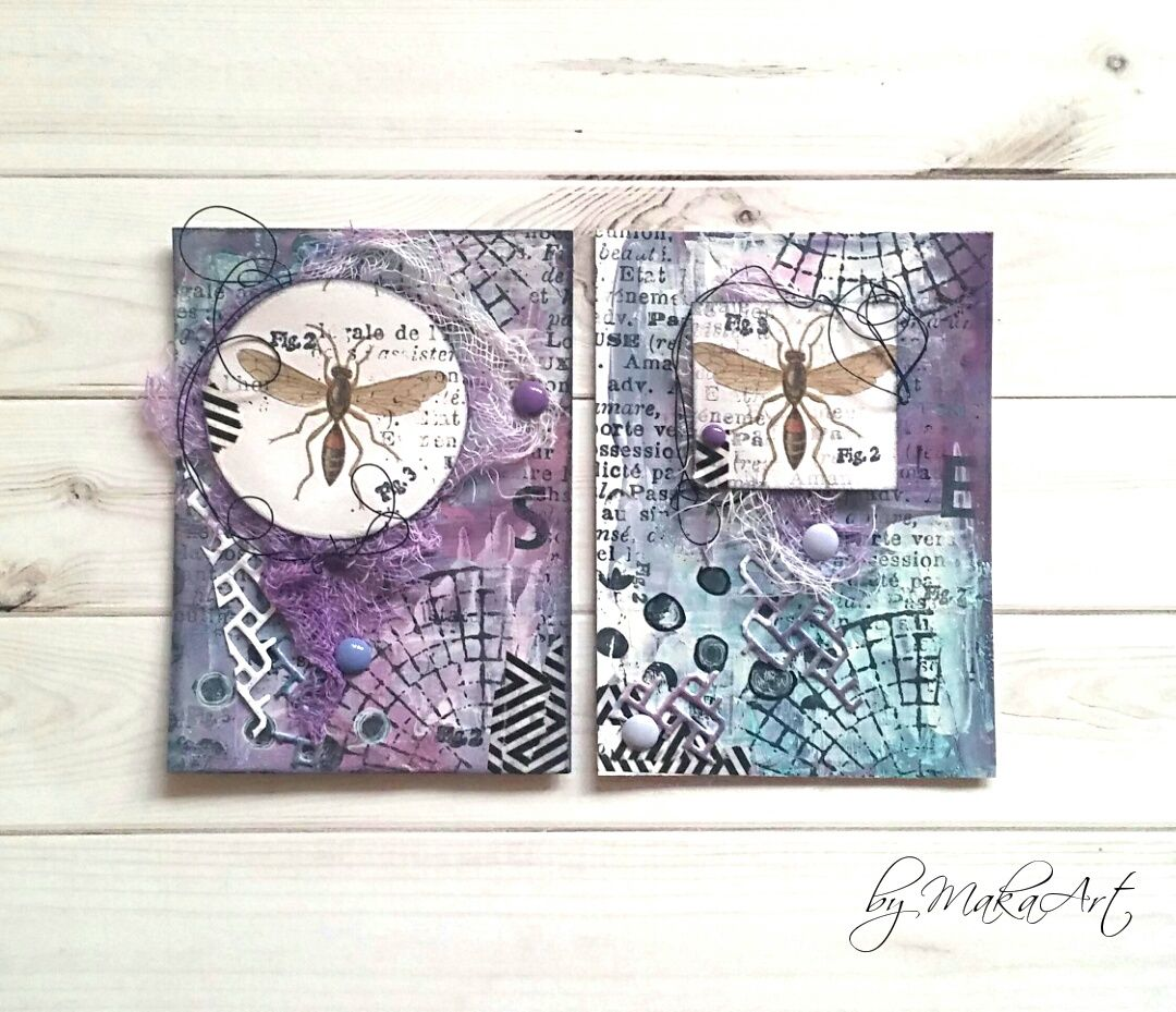 "My ATCs ""Insects""...   Hello everyone!   Motives and themes which have connection with nature belong to the most beautiful ones. Mainly, when creating ATCs, butte..."