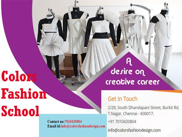 An Offering At Three Levels Namely 6 Months Fast Track Fashion Designing Course In Chen Fashion Designing Institute Fashion Designing Course Technology Fashion