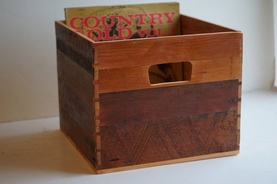 Wood Crate For 12 Inch Vinyl Lp Record Storage Kist