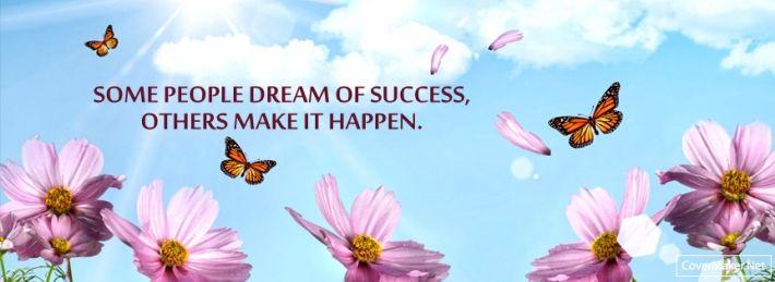 Facebook cover success quotes