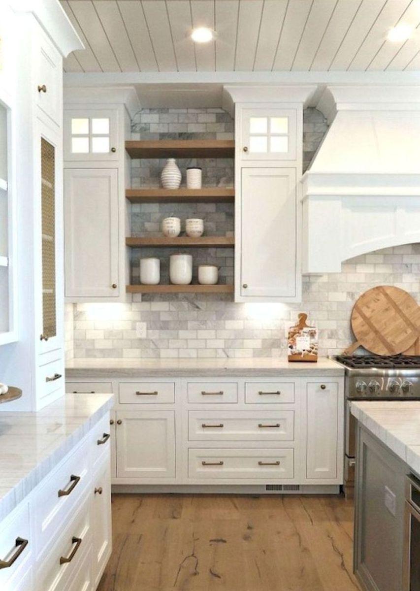 20 Rustic Farmhouse Kitchen Cabinet Makeover Ideas | Farmhouse ...