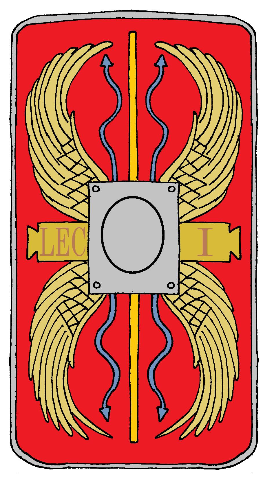 Roman Legionary Shield Legion 1 Adiutrix Escudo Romano Roma Antigua Legion Romana