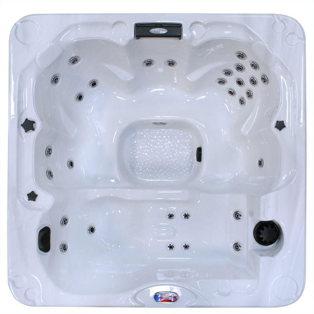 American Spas 6-Person 30-Jet Lounger Sterling Silver Spa Hot Tub ...