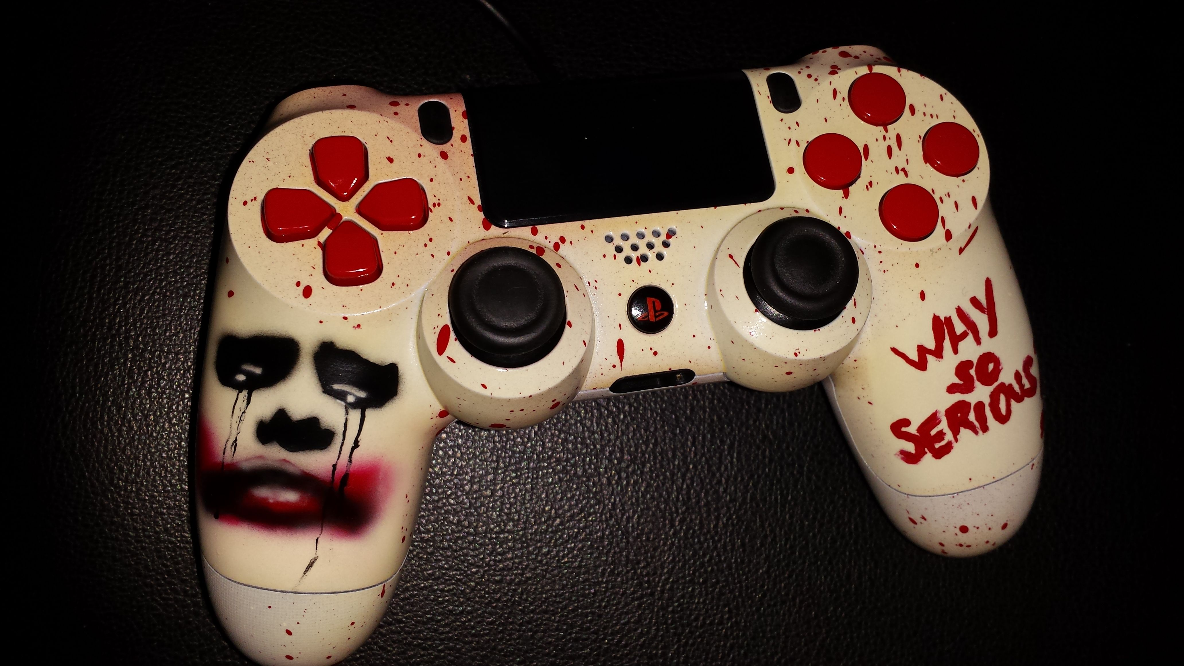 custom airbrushed ps4 controller Playstation games, Ps4
